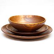 Посуда handmade. Livemaster - original item Set of Wooden Plates (3#32. Handmade.