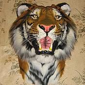 Картины и панно ручной работы. Ярмарка Мастеров - ручная работа Амурский тигр (муляж). Handmade.