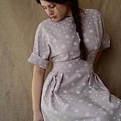 """Одежда ручной работы. Ярмарка Мастеров - ручная работа Платье """"Горошки на пудровом фоне"""". Handmade."""