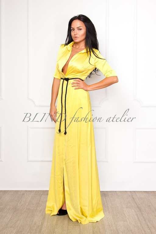 Платья ручной работы. Ярмарка Мастеров - ручная работа. Купить Платье-рубашка 00066. Handmade. Желтый, платье-рубашка, blind