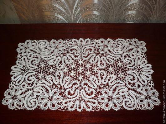 Текстиль, ковры ручной работы. Ярмарка Мастеров - ручная работа. Купить Дорожка. Handmade. Белый, кружево, салфетка, хлопок