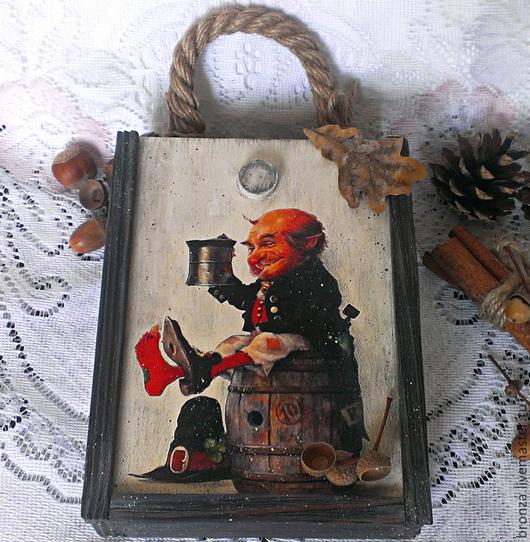 """Корзины, коробы ручной работы. Ярмарка Мастеров - ручная работа. Купить Короб для хранения """"Веселый гном"""". Handmade. Короб для хранения"""