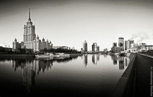 Фотокартины ручной работы. Ярмарка Мастеров - ручная работа. Купить Москва высотная. Handmade. Серебряный, москва, город, небоскребы, высотки