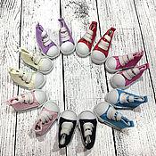 Куклы и игрушки ручной работы. Ярмарка Мастеров - ручная работа Кеды для куклы (шнур), 5см. Handmade.