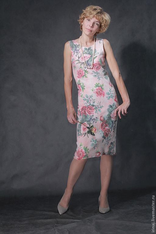 """Платья ручной работы. Ярмарка Мастеров - ручная работа. Купить валяное платье """"Вальс Цветов"""". Handmade. Бледно-розовый"""
