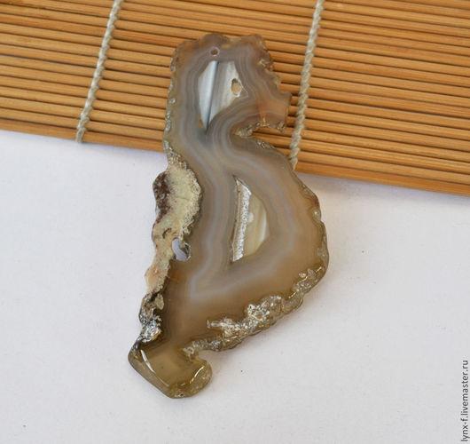 Для украшений ручной работы. Ярмарка Мастеров - ручная работа. Купить Агат срез - 7, 95х40мм. Handmade. Агат натуральный