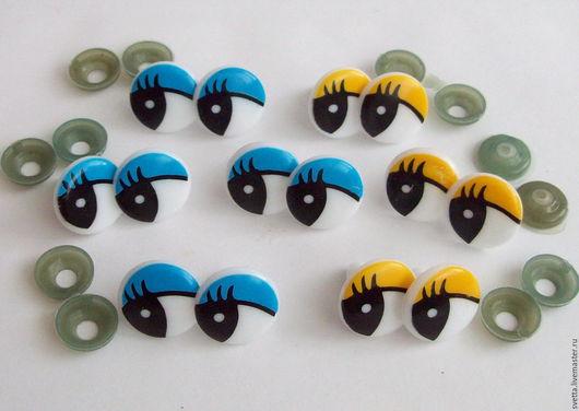 Куклы и игрушки ручной работы. Ярмарка Мастеров - ручная работа. Купить Круглые рисованные пластиковые глазки для игрушек, 18 мм. Handmade.