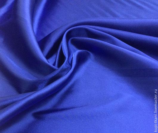 Шитье ручной работы. Ярмарка Мастеров - ручная работа. Купить Атлас стрейч синий. Handmade. Атлас, атласная ткань