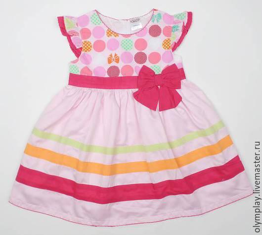 Платье от поставщика-производителя, выполнено из 100% хлопка