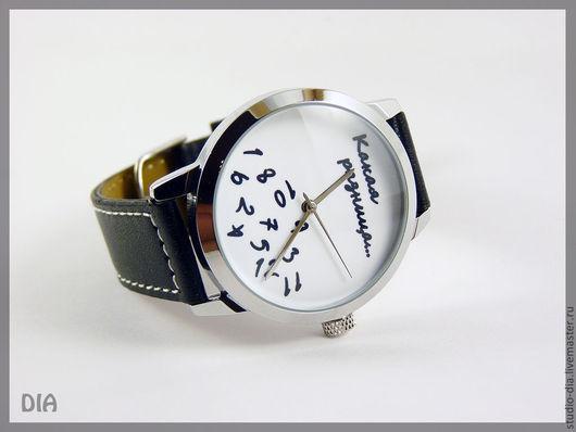 Часы. Наручные Часы. Оригинальные Дизайнерские Наручные Часы Какая Разница (Белый Фон). Студия Авторских Часов DIA