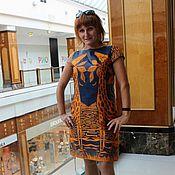 Одежда ручной работы. Ярмарка Мастеров - ручная работа Платье с жирафами из органзы Valentino. Handmade.