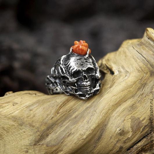 """Кольца ручной работы. Ярмарка Мастеров - ручная работа. Купить Кольцо """"Ars Moriendi"""". Handmade. Кольцо, цветок, ювелирные украшения"""