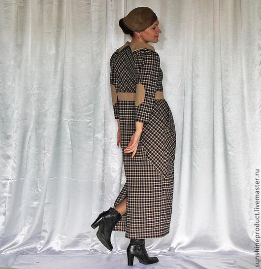 """Платья ручной работы. Ярмарка Мастеров - ручная работа. Купить платье """"Изысканный тон"""". Handmade. В клеточку, заплатки на локтях"""