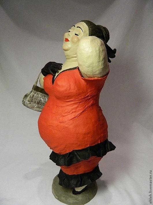 Коллекционные куклы ручной работы. Ярмарка Мастеров - ручная работа. Купить Матильда. Handmade. Интерьерная кукла, ярко-красный