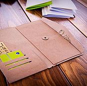 Канцелярские товары handmade. Livemaster - original item Paper folder for Midori notebook (21h11cm) Kraft. Handmade.