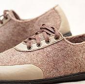 Обувь ручной работы. Ярмарка Мастеров - ручная работа Туфли валяные мужские повседневные. Handmade.