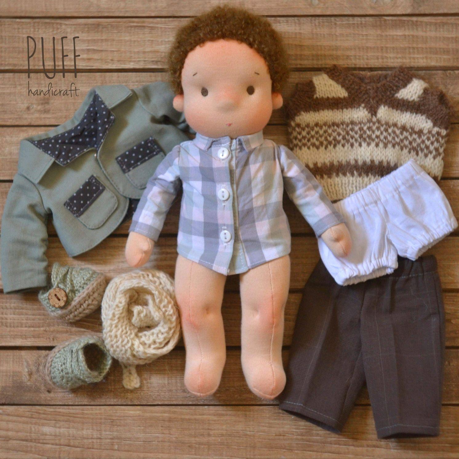 Вальдорфская кукла мальчик ростом 27 см, Вальдорфские куклы и звери, Одесса,  Фото №1