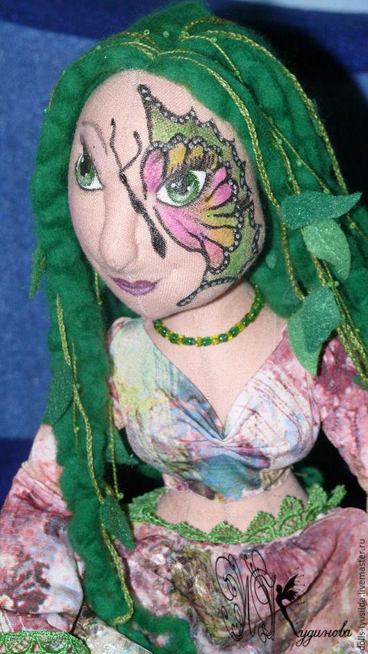 Коллекционные куклы ручной работы. Ярмарка Мастеров - ручная работа. Купить Лесная нимфа. Тектильная шарнирная кукла. Handmade. Разноцветный