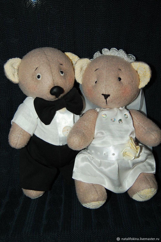 Свадебные мишки тедди, Мягкие игрушки, Брянск,  Фото №1