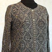 Одежда handmade. Livemaster - original item Cashmere Silk.Jacket women khaki. Sophistication and simplicity. Handmade.