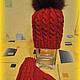 Комплекты аксессуаров ручной работы. Ярмарка Мастеров - ручная работа. Купить Зимний комплект: шапка с помпоном и варежки. Handmade. Бордовый