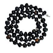 Работы для детей, handmade. Livemaster - original item Beads from natural stone Hawkeye. Handmade.