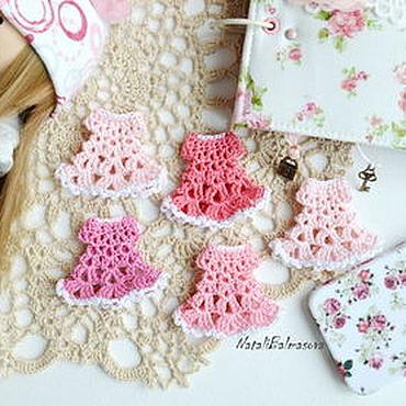 Materials for creativity handmade. Livemaster - original item Mini dress crochet scrapbook works and miniatures. Handmade.