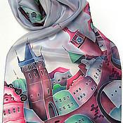 """Аксессуары ручной работы. Ярмарка Мастеров - ручная работа Шарфик """"Карлов мост, Прага"""". Handmade."""