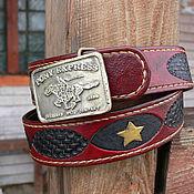 Ремни ручной работы. Ярмарка Мастеров - ручная работа ремень для Pony Express. Handmade.