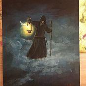 Картины и панно handmade. Livemaster - original item The Picture Monk. Handmade.