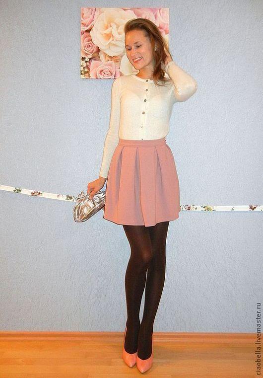 """Юбки ручной работы. Ярмарка Мастеров - ручная работа. Купить Юбочка """"Michelle, ma belle"""". Handmade. Бледно-розовый, розовый"""