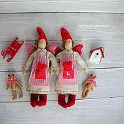 Куклы и игрушки ручной работы. Ярмарка Мастеров - ручная работа Сплюшка Тильда ангел добрых снов текстильная кукла с мишкой. Handmade.