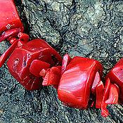 Украшения ручной работы. Ярмарка Мастеров - ручная работа Ожерелье Всё красное. Handmade.