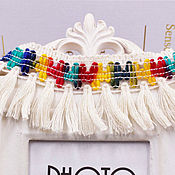 Материалы для творчества handmade. Livemaster - original item Cotton braid fringe. rainbow. Handmade.