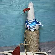 Мягкие игрушки ручной работы. Ярмарка Мастеров - ручная работа Игрушки: Чайка в гюйсе. Handmade.
