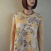Одежда handmade. Livemaster - original item Felted elegant tunic, sweatshirt made of merino wool and silk. Handmade.