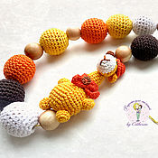 Одежда handmade. Livemaster - original item Juniper nursing necklace, called