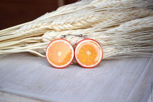Серьги ручной работы. Ярмарка Мастеров - ручная работа. Купить Серьги Апельсинки. Handmade. Оранжевый, лето, апельсины, цитрус, серьги