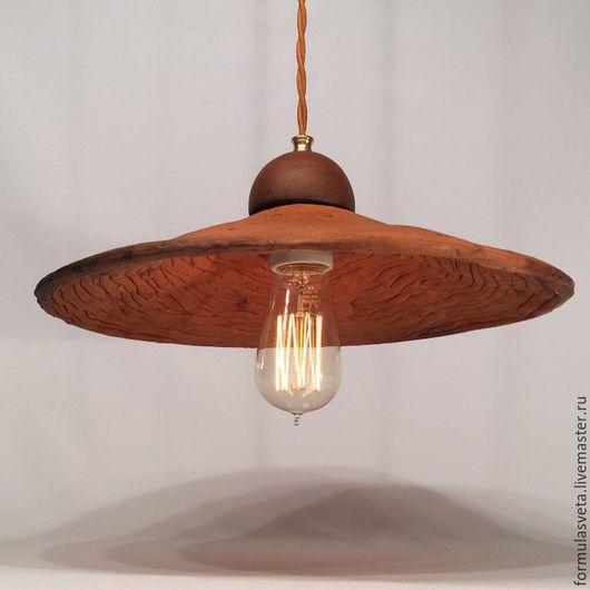 Спиральная фантазия №6. Дизайнерский керамический подвесной светильник. Ручная работа