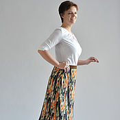 Одежда handmade. Livemaster - original item Long skirt knitted pattern. Handmade.
