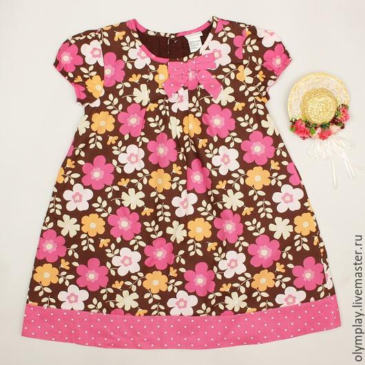 Платье от поставщика-производителя, выполнено из 100% хлопка.