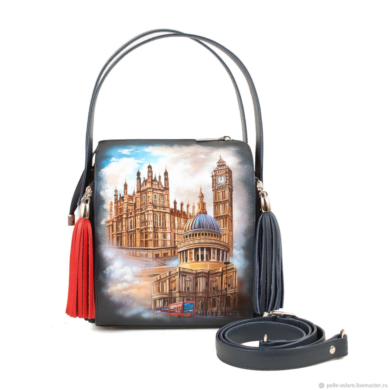 Leather bag square 'London', Classic Bag, St. Petersburg,  Фото №1