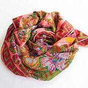 """Аксессуары handmade. Livemaster - original item Шелковый платок из ткани ETRO """"Sur les motifs de broderie"""". Handmade."""