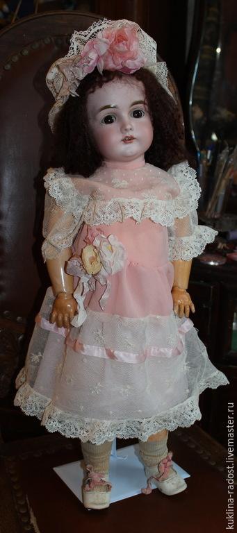 Одежда для кукол ручной работы. Ярмарка Мастеров - ручная работа. Купить Платье для антикварной куклы. Handmade. Розовый, антиварное платье