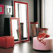 Для дома и интерьера handmade. Livemaster - original item Mirror in mosaic frame, combined with fabric. Handmade.