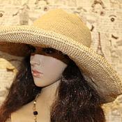 Аксессуары handmade. Livemaster - original item Jute hat with wide brim summer. Handmade.
