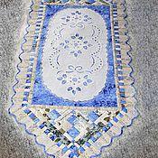 Для дома и интерьера ручной работы. Ярмарка Мастеров - ручная работа Дорожка на кровать ришелье на голубом. Handmade.