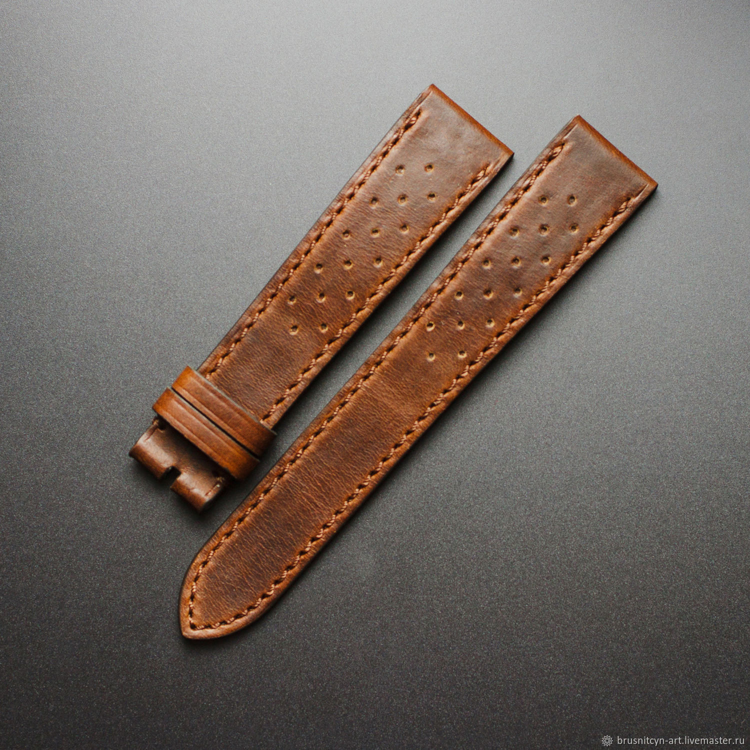 Calf leather watchband, Watch Straps, St. Petersburg,  Фото №1