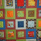 Для дома и интерьера ручной работы. Ярмарка Мастеров - ручная работа Лоскутное одеяло для малыша.. Handmade.