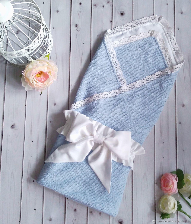 Летний конверт-одеяло на выписку из филейного полотна, Конверты на выписку, Волгоград,  Фото №1